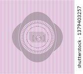 money icon inside vintage pink...   Shutterstock .eps vector #1379403257