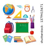school subjects set. collection ... | Shutterstock .eps vector #1379415671