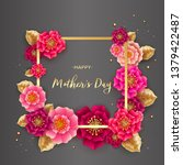 mother's day greeting card with ...   Shutterstock .eps vector #1379422487