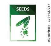 seed pack icon. flat color...