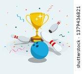 illustration of bowling... | Shutterstock .eps vector #1379436821
