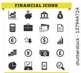 vector set of financial and... | Shutterstock .eps vector #137944724
