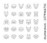 dogs cute kawaii linear... | Shutterstock .eps vector #1379466731