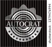 autocrat silver shiny emblem   Shutterstock .eps vector #1379476994