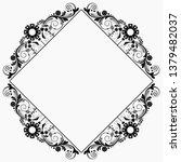 vector vintage floral ...   Shutterstock .eps vector #1379482037