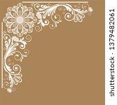 vector vintage floral ...   Shutterstock .eps vector #1379482061