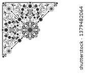 vector vintage floral ...   Shutterstock .eps vector #1379482064