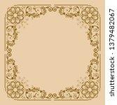 vector vintage floral ...   Shutterstock .eps vector #1379482067