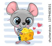 cute cartoon mouse with big... | Shutterstock .eps vector #1379483831