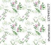 seamless pattern of culinary... | Shutterstock . vector #1379495177