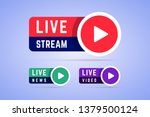 live news  video and stream... | Shutterstock .eps vector #1379500124