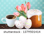 coffee and easter traditional...   Shutterstock .eps vector #1379501414