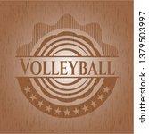 volleyball vintage wooden emblem   Shutterstock .eps vector #1379503997
