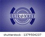 ultraviolet emblem with jean...   Shutterstock .eps vector #1379504237