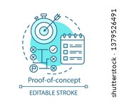 proof of concept concept icon....   Shutterstock .eps vector #1379526491