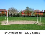 Постер, плакат: A soccer pitch on