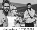 lovers hugs outdoor flirt... | Shutterstock . vector #1379533001