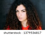 young woman portrait. suspicion ... | Shutterstock . vector #1379536817