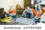 business team meeting. project... | Shutterstock . vector #1379537684