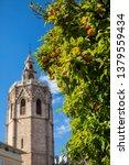 a beautiful view of orange... | Shutterstock . vector #1379559434