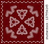 vintage folk motif design wall... | Shutterstock .eps vector #137956145
