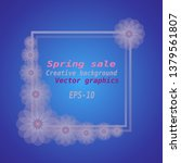 spring sale background. spring...   Shutterstock .eps vector #1379561807