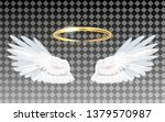 angel wings icon with nimbus  ... | Shutterstock .eps vector #1379570987