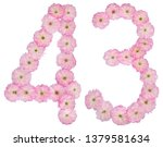 numeral 43  forty three  from... | Shutterstock . vector #1379581634