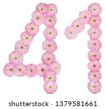 numeral 41  forty one  from... | Shutterstock . vector #1379581661