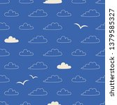 seamless pattern with clouds... | Shutterstock .eps vector #1379585327