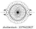 triple moon pagan wicca moon... | Shutterstock .eps vector #1379622827
