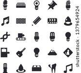 solid vector icon set   brick... | Shutterstock .eps vector #1379654924