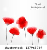 background with abstract poppies