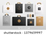 realistic kraft package and... | Shutterstock .eps vector #1379659997