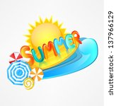 stylish logo of summer | Shutterstock .eps vector #137966129