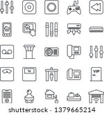 thin line icon set   airport... | Shutterstock .eps vector #1379665214