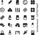 solid vector icon set   store... | Shutterstock .eps vector #1379674667