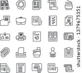 thin line icon set   identity... | Shutterstock .eps vector #1379675351