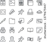 thin line icon set   book... | Shutterstock .eps vector #1379675447