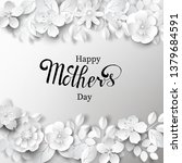 paper art background with hand...   Shutterstock .eps vector #1379684591