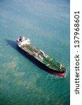 an ocean tanker on the open sea   Shutterstock . vector #137968601