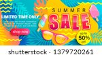 Summer Sale Bright Poster  Hot...