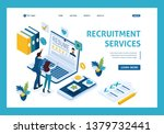 isometric hr manager  service... | Shutterstock .eps vector #1379732441