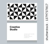 business card template with... | Shutterstock .eps vector #1379737817