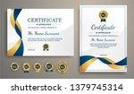 certificate of appreciation... | Shutterstock .eps vector #1379745314