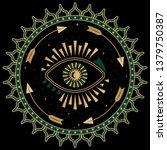 mystic eye symbol folk... | Shutterstock .eps vector #1379750387
