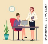 manager and boss at the office... | Shutterstock .eps vector #1379763254