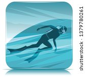 diver silhouette on abstract... | Shutterstock .eps vector #1379780261