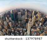 looking down at new york city ... | Shutterstock . vector #137978987