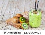 Green Smoothie With Kiwi  Apple ...